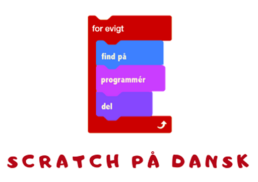 Logo for Scratch på dansk