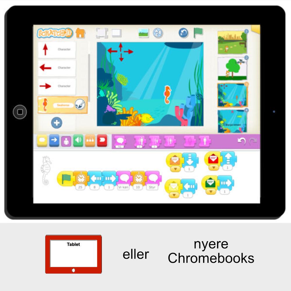 Online kursus til tablets eller nyere Chromebooks